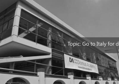 來去義大利學設計 劉玟艾 | Philippe Starck親自執教的跨領域設計研究所 Domus Academy