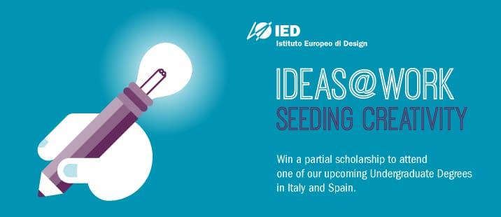 IED歐洲設計學院2015年學士課程留學獎學金