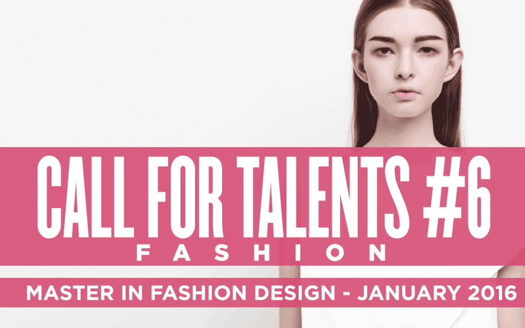 Domus Academy 2016年1月開課服裝設計碩士獎學金競賽