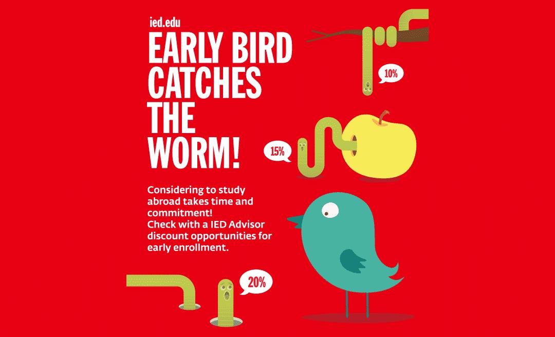 IED歐洲設計學院2017年1月、3月開課碩士「早鳥」學費減免專案實施中