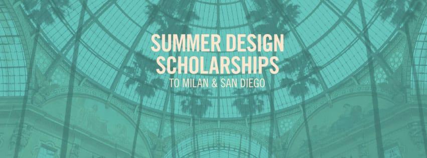 NABA米蘭藝術大學與NSAD聖地牙哥新建築與設計大學暑期獎學金2016