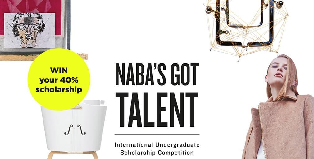 NABA 米蘭藝術大學2019年9月學士課程獎學金競賽